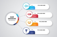 Mission infographic Label template