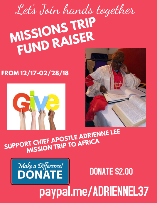 MISSIONS TRIP FUND RAISER Flyer (US Letter) template