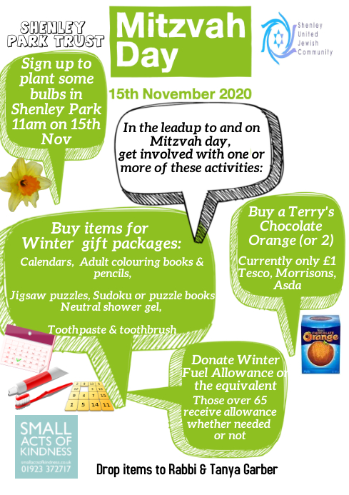 Mitzvah Day Appeal Volunteer Jewish Community A4 template