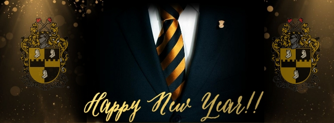 Alpha New Year Celebration Portada de Facebook template