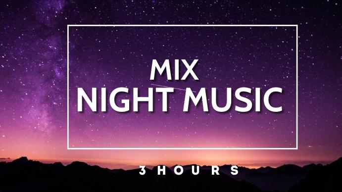 mix night music youtube thumbnail YouTube-thumbnail template