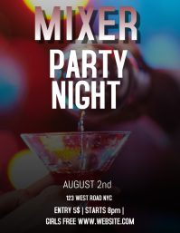 MIXER PARTY EVENT FLYER AD TEMPLATE