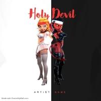 Holy Devil Mixtape Album Cover Template