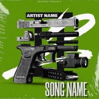 mixtape cover art design template
