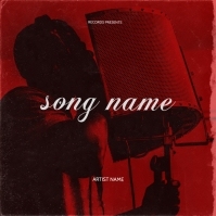 Mixtape cover art design template