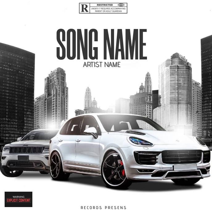 mixtape cover art design template Sampul Album