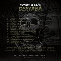Mixtape Rap Hip-Hop CD Cover Back Template Albumcover