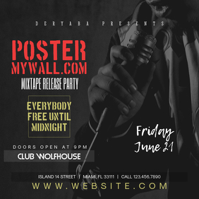 Mixtape Release Party Instagram Banner Template