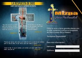 Mizpa reverso Postcard template