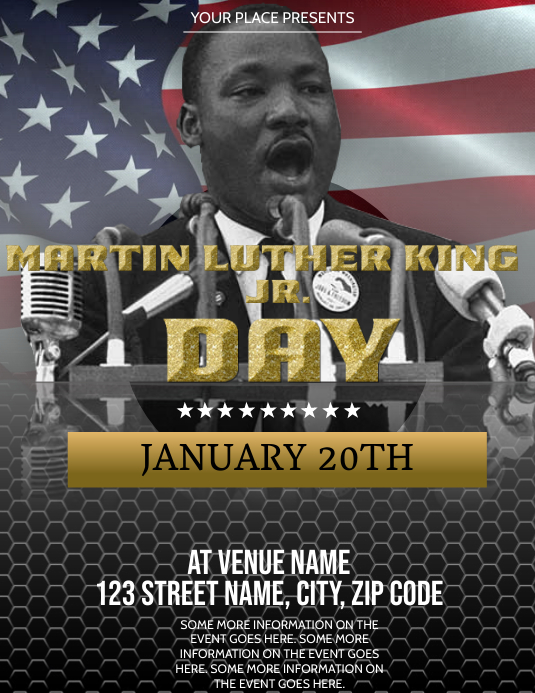MLK Day Celebration event Flyer Template Folder (US Letter)