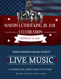 MLK Day Celebration Event Flyer Template Pamflet (Letter AS)