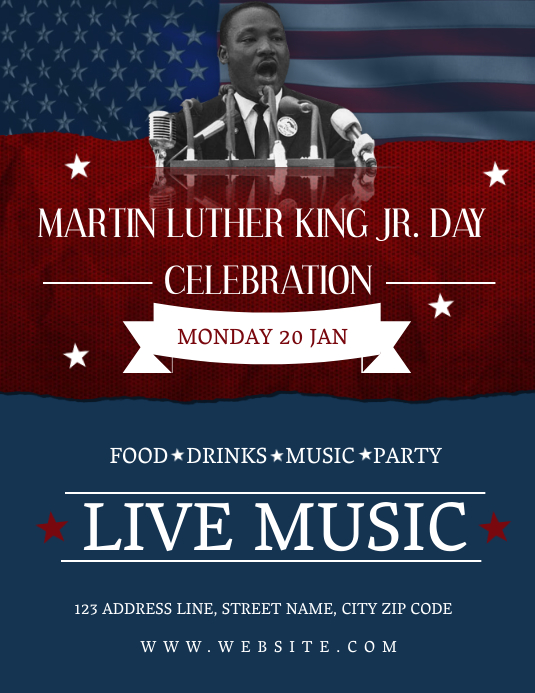 MLK Day Celebration Event Flyer Template