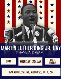 MLK Day Celebration Event Flyer Template Volante (Carta US)