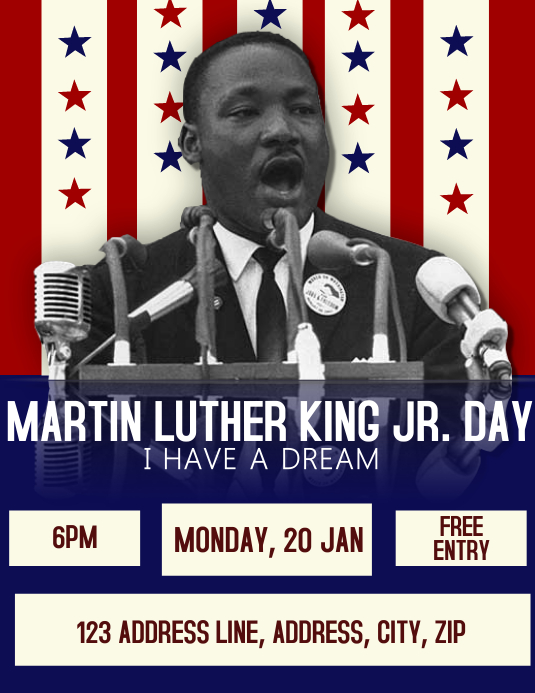 MLK Day Celebration Event Flyer Template