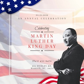 MLK Day Celebration Video Invitation Persegi (1:1) template