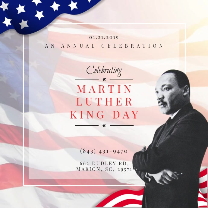 MLK Day Celebration Video Invitation