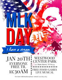 Martin Luther King Jr Day Flyer template