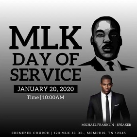 MLK Day of Service Message Instagram template