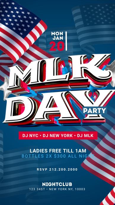 MLK Day Party Instagram Story