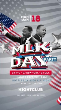 MLK Day Party instagram Story Template