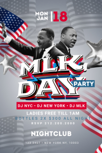 MLK Day Party Poster Template