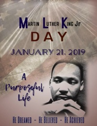 MLK Day Poster Template Flyer (Letter pang-US)
