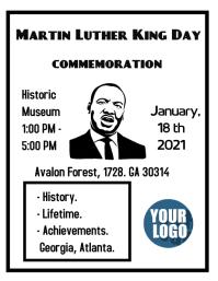 MLK Flyer (format US Letter) template