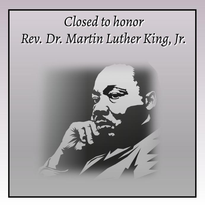 MLK HOLIDAY Publicación de Instagram template