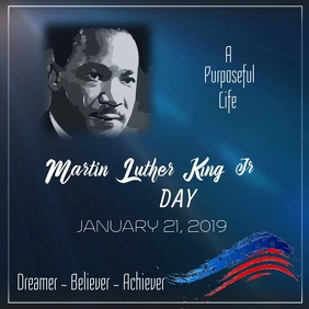 MLK Jr Poster Template Quadrat (1:1)