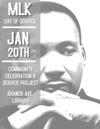 MLK Martin Luther King Flyer (format US Letter) template