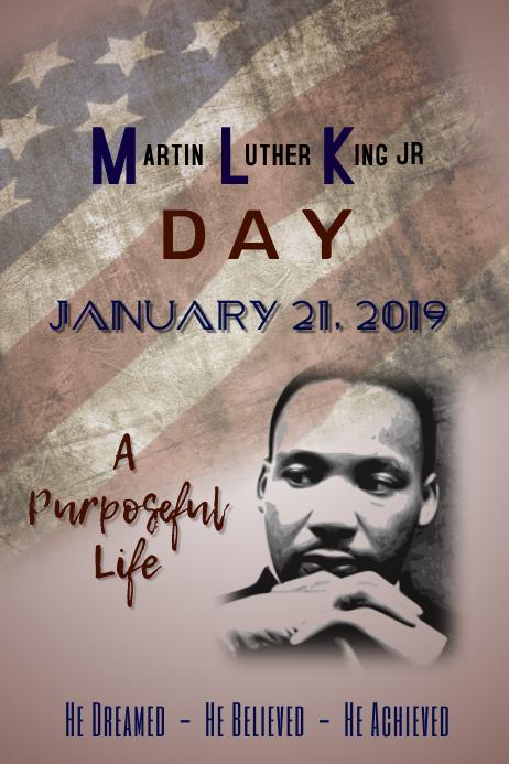 MLK Poster Template Póster