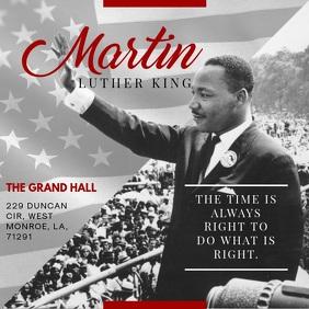 MLK Video Quote Event Invitation Persegi (1:1) template