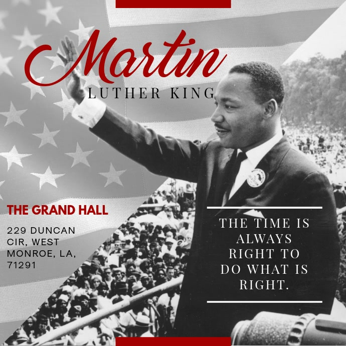 MLK Video Quote Event Invitation