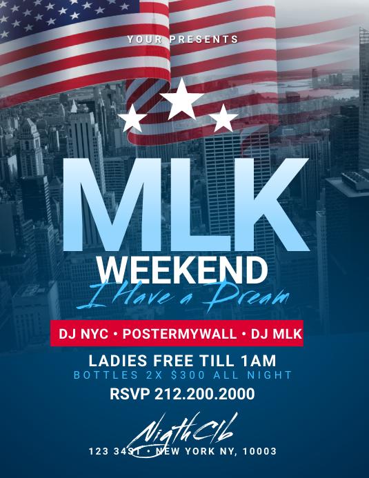 MLK Weekend Flyer Template Volante (Carta US)