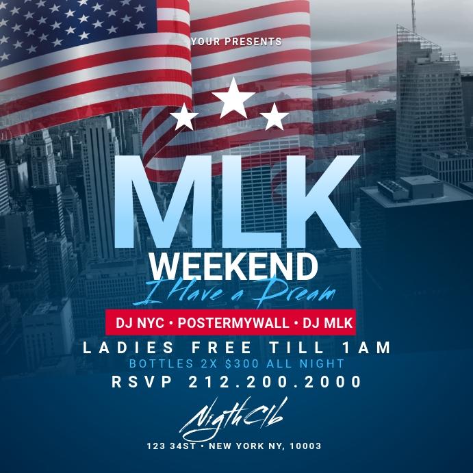 MLK Weekend instagram Template