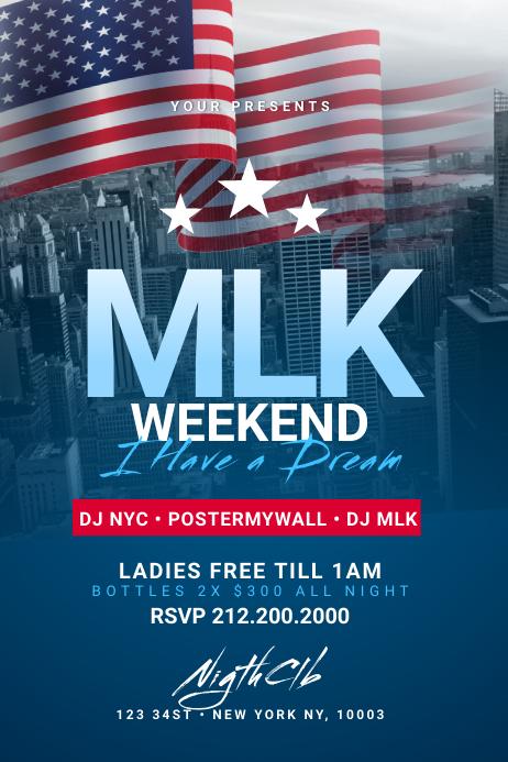 MLK Weekend Poster Template Póster
