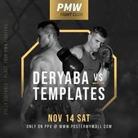 MMA Boxing Fight Fully Editable Promo Banner Instagram-Beitrag template