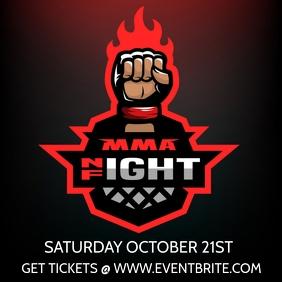 MMA FIGHT NIGHT FLYER
