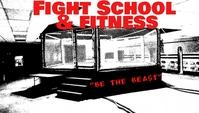 MMA Gym Flyer Besigheidskaart template