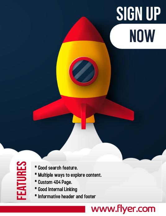 Mobile App, Website Flyer