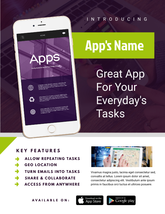 mobile app flyer template postermywall