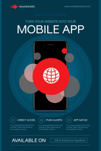Mobile App Flyer Template Poster