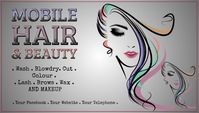 Mobile Beauty & Hair Business Card Visitenkarte template