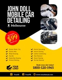 Mobile car detailing instagram template Volantino (US Letter)