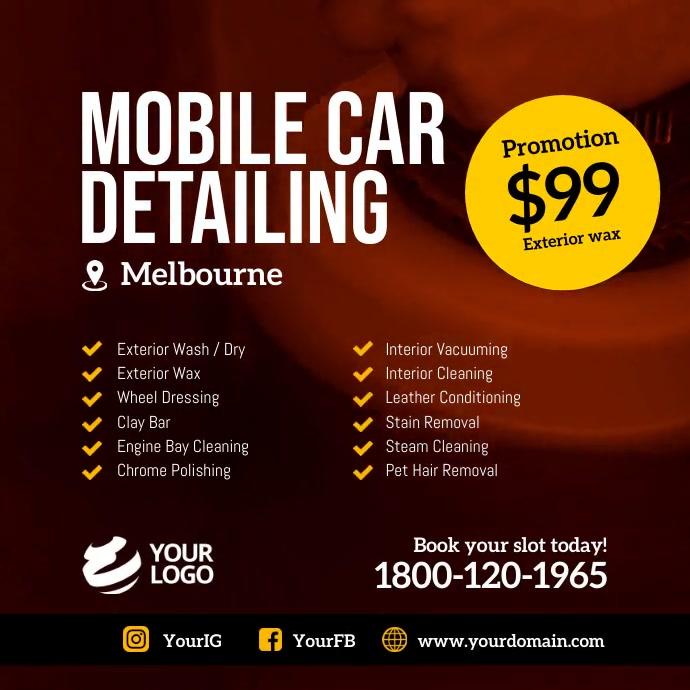 Mobile car detailing instagram template