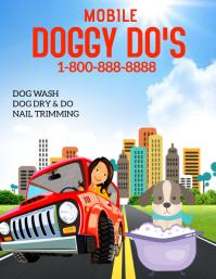 Mobile Dog Wash Folder (US Letter) template