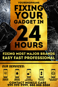 Mobile Gadget Repair Template Poster