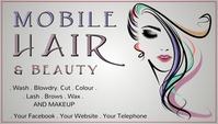 Mobile Hair Cartão de visita template