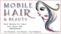 Mobile Hair Hair dresser Ikhadi Lebhizinisi template