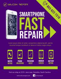 mobile pc repair shop flyer template